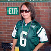 The birthday girl attired in Xavier's favorite pro football jersey...Matt Sanchez's #6 on the NY Jets!